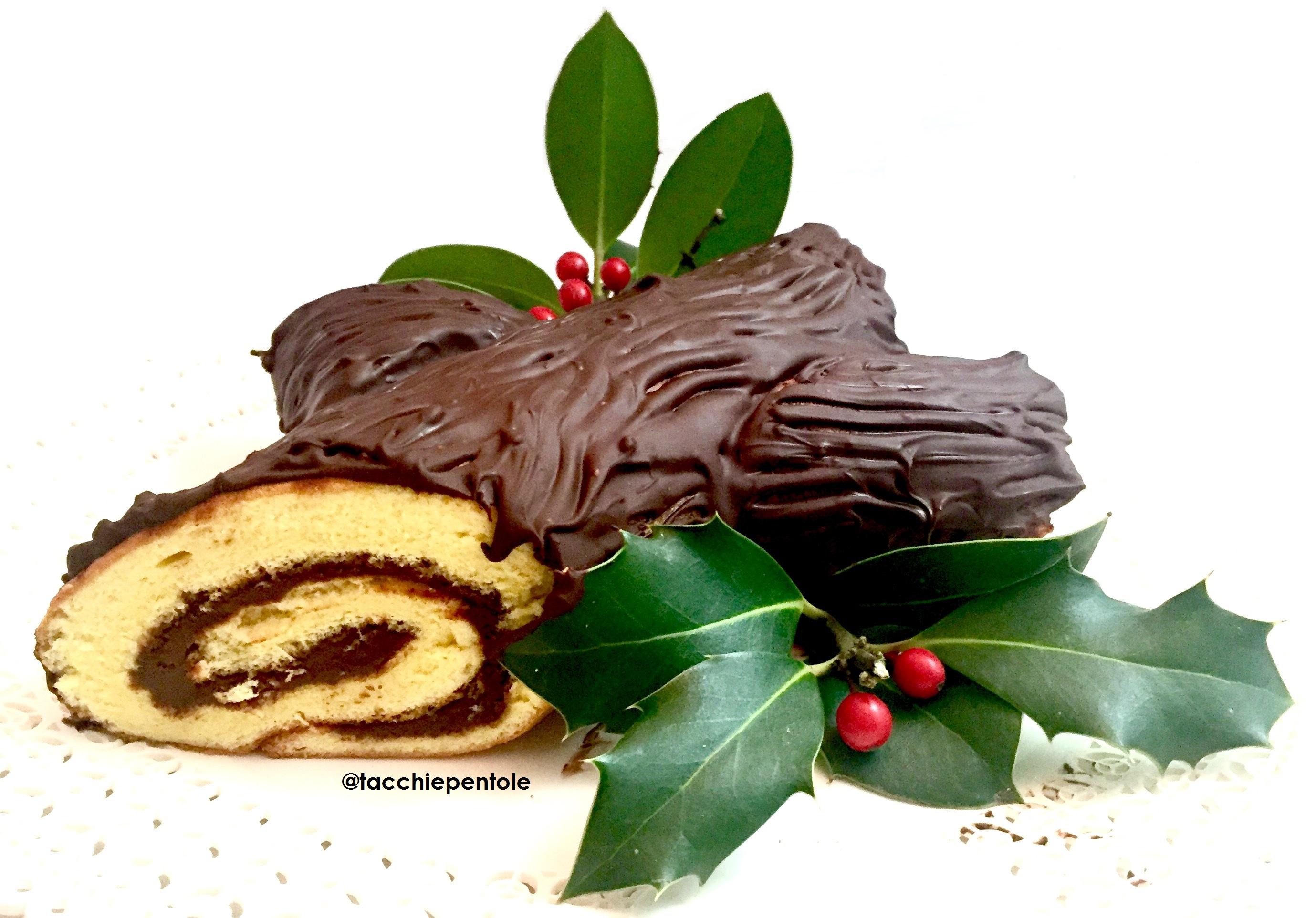Tronchetto Di Natale Alla Ricotta.Tronchetto Di Natale Alla Nutella Tacchi E Pentole