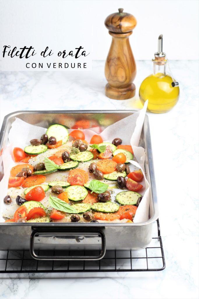 filetti di orata con verdure