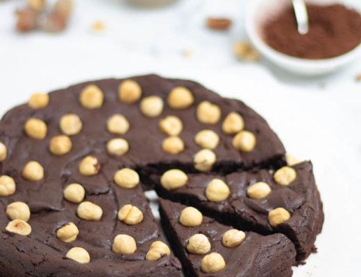 torta al cioccolato e nocciole senza lievito