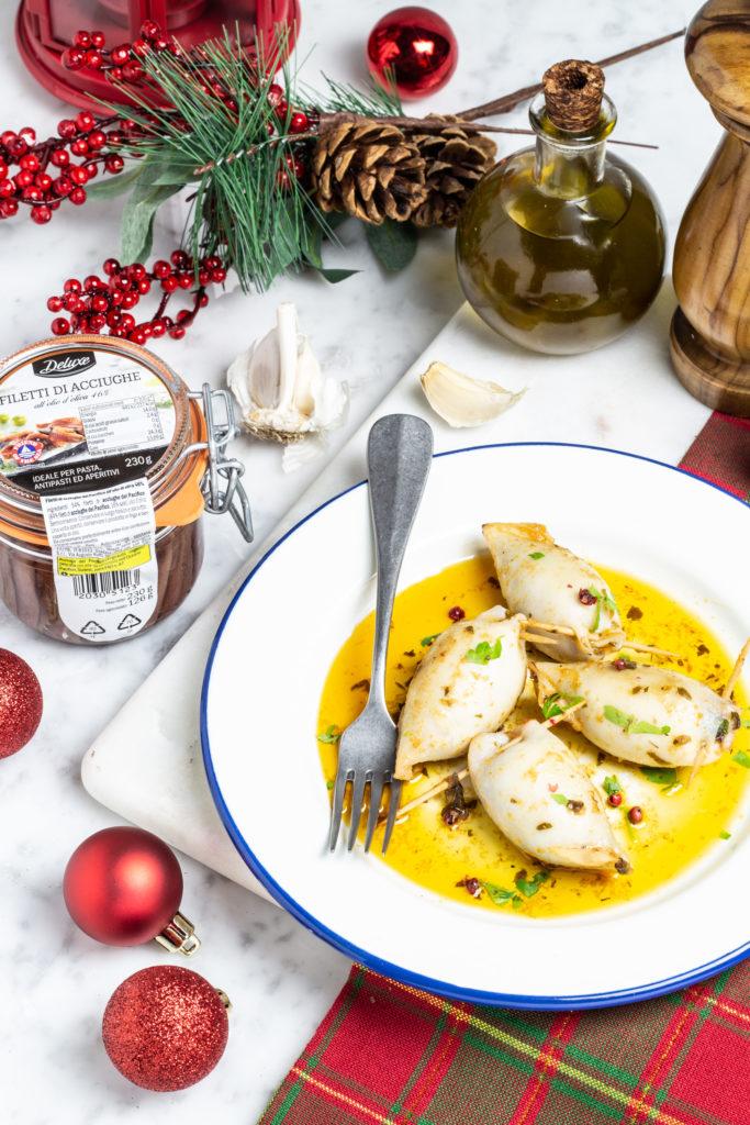 calamari ripieni con pomodori secchi e olive