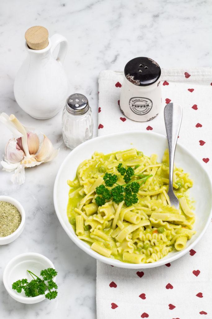 Pasta risottata con piselli e pecorino