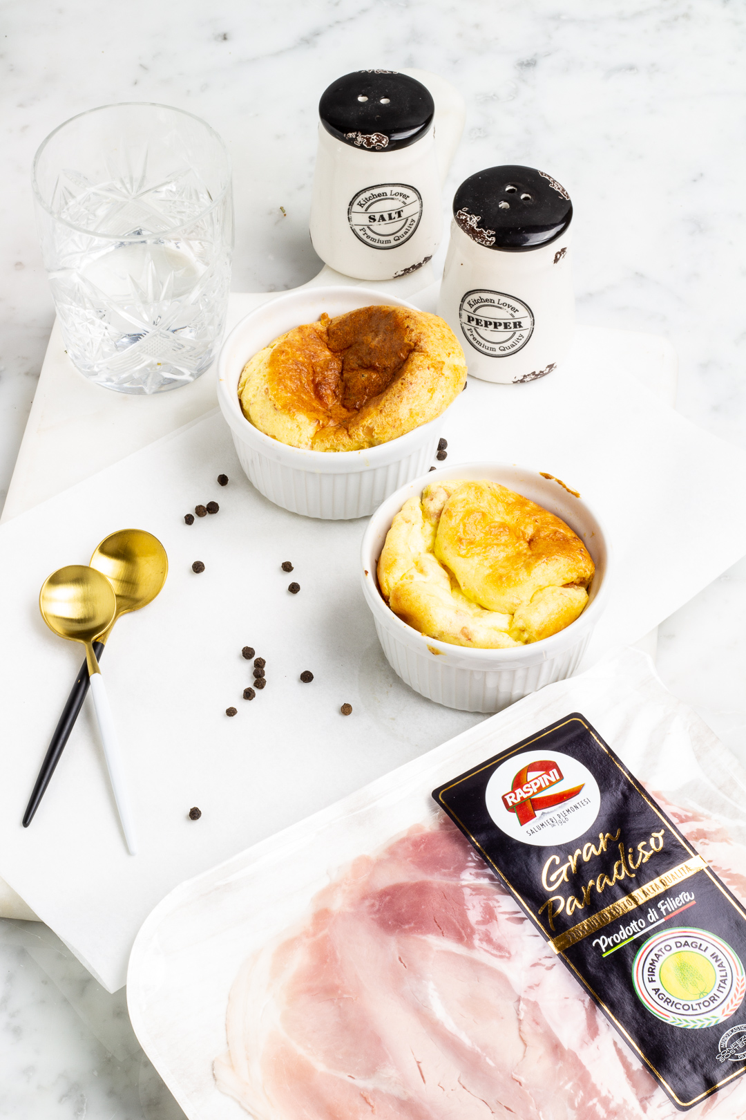 Soufflè di Parmigiano e prosciutto