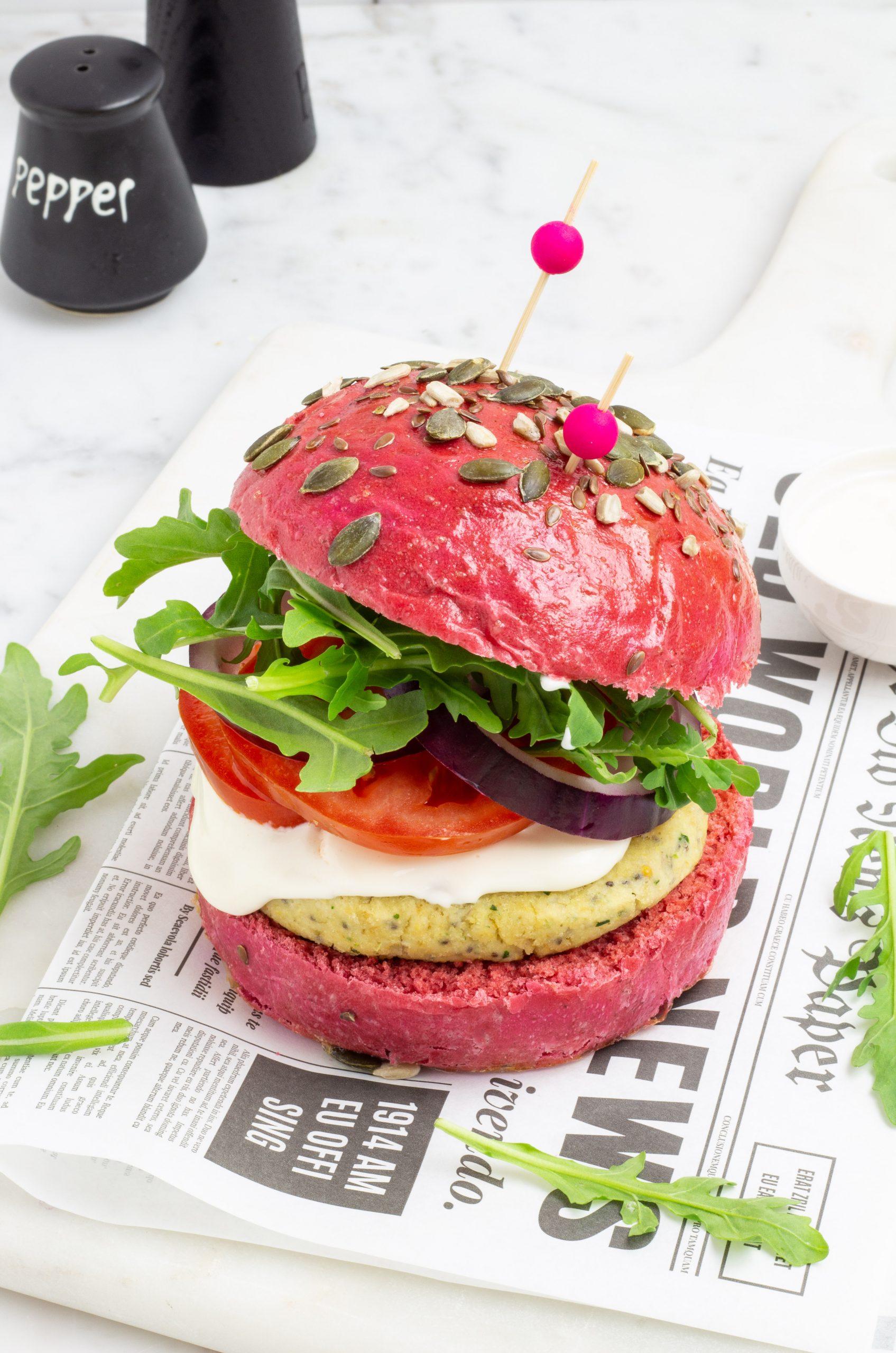pink burger con miglio e tonno