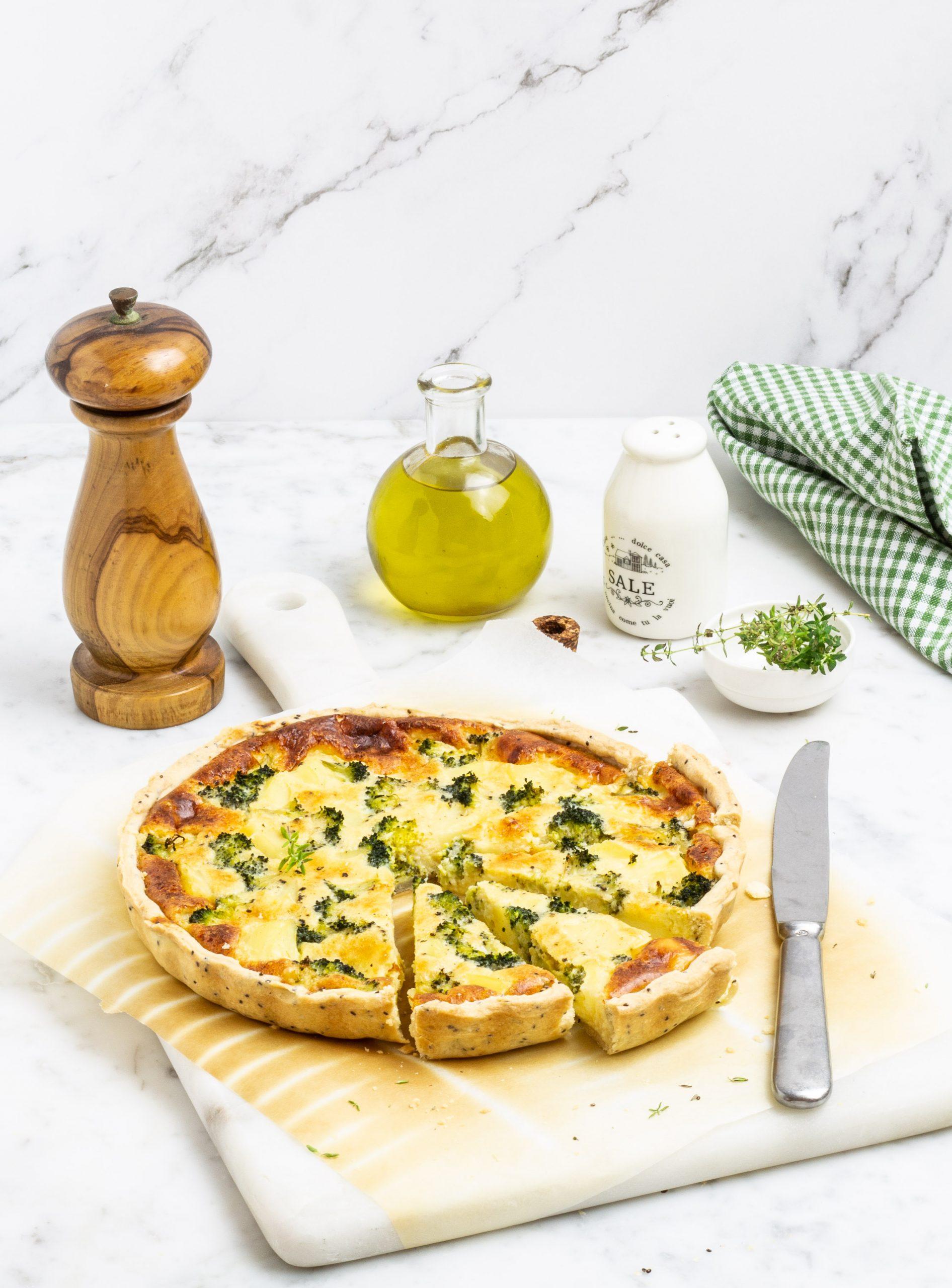 Torta salata con broccoli e patate